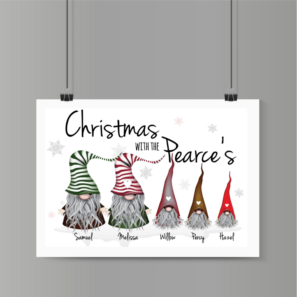 Gonks Christmas Personalised Print Digital Download - Mugged Write Off
