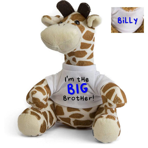 I'm The BIG Brother LITTLE Sister Personalised Giraffe Teddy - Mugged Write Off