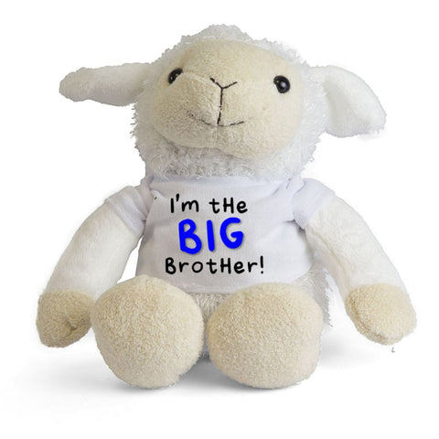 I'm The BIG Brother LITTLE Sister Personalised Lamb Sheep Teddy - Mugged Write Off