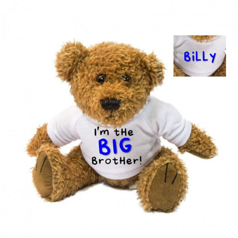 I'm The BIG Brother LITTLE Sister Personalised Teddy Bear - Mugged Write Off