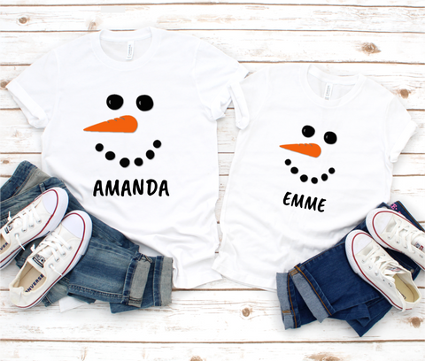 Snow Christmas Mini Me T Shirts Set