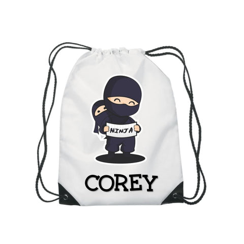 Ninja Name Gym Sports Bag - Mugged Write Off