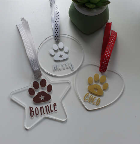 Pets Personalised Christmas Decoration