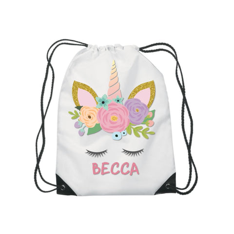 Unicorn Name Gym Sports Bag - Mugged Write Off