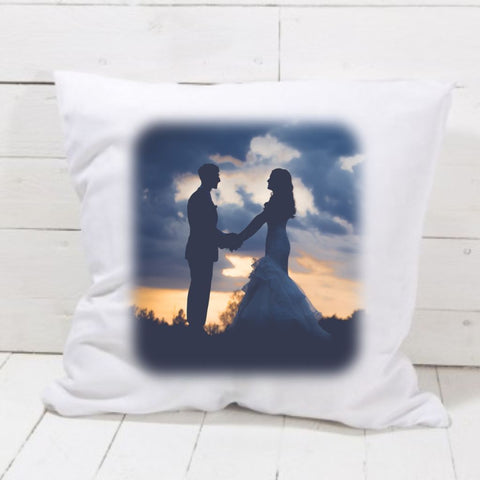 Wedding Day Colour Photo Cushion - Mugged Write Off