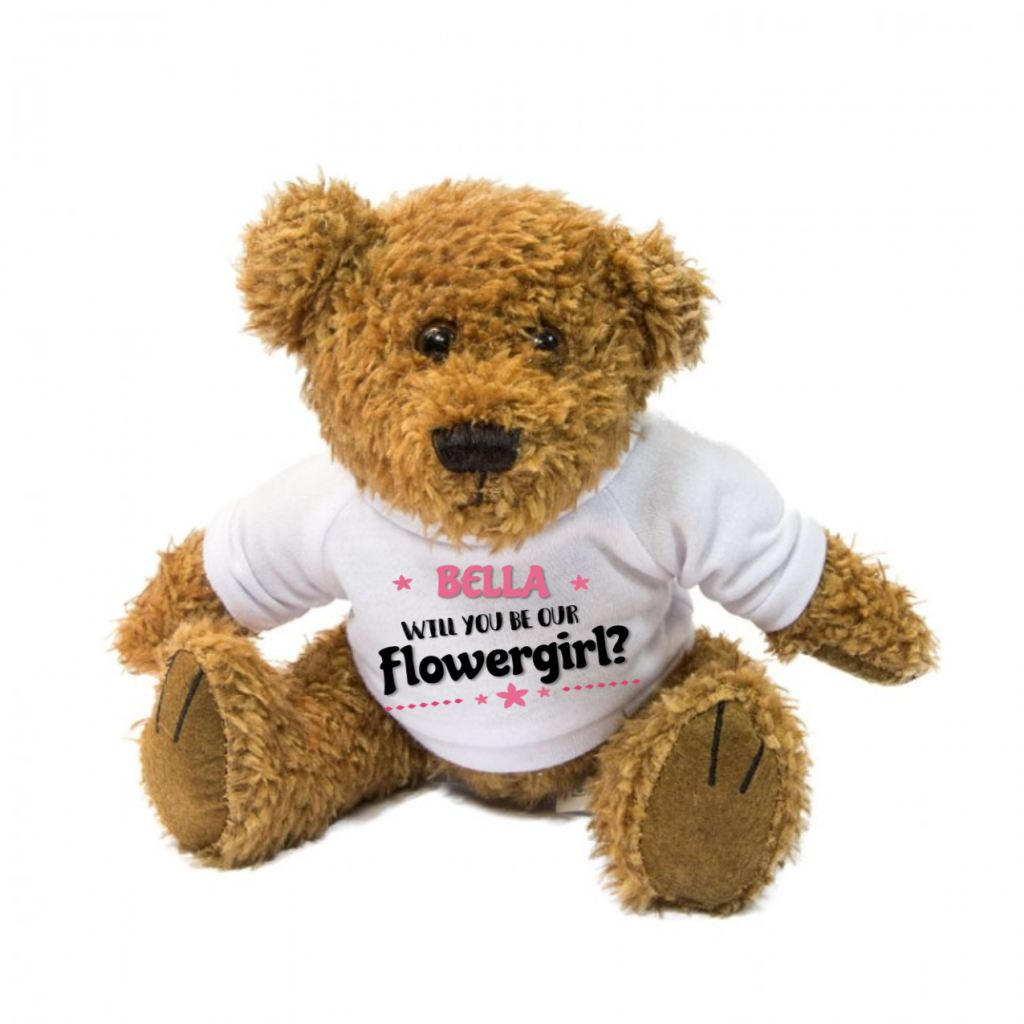 Will You Be Our Flowergirl? Personalised Teddy Bear - Mugged Write Off