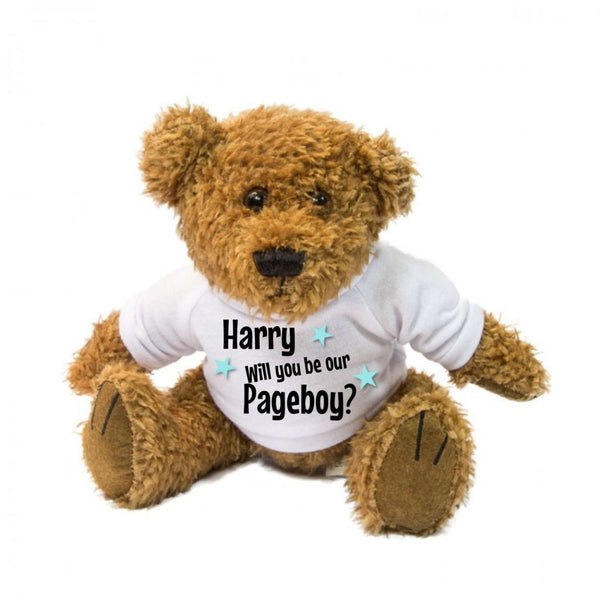 Will You Be Our Pageboy? Personalised Teddy Bear - Mugged Write Off