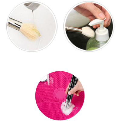 1 Pcs Silicone Brush Cleaner Pad with Sucker - NonStopDeal