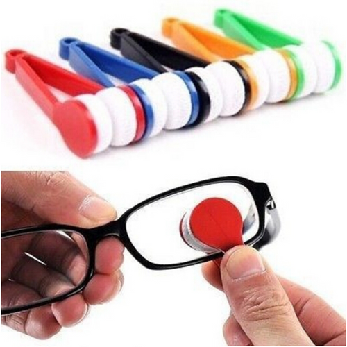 Mini Portable Sunglasses Spectacles Microfiber Cleaner Brush - NonStopDeal