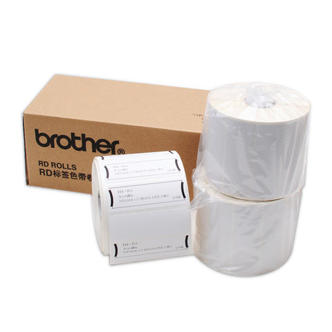 Brother RD-S04C1 76mm x 25mm Die Cut Labels (Black On White)
