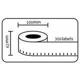 Compatible Brother DK-11202 62mm x 100mm Shipping Labels (Black On White)