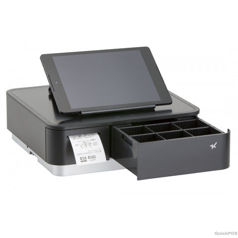 Star mPOP Wireless Thermal Receipt Printer and Cash Drawer - Black