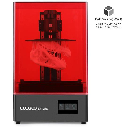 Elegoo Saturn MSLA 4K Monochrome LCD Resin 3D Printer 192x120x200mm