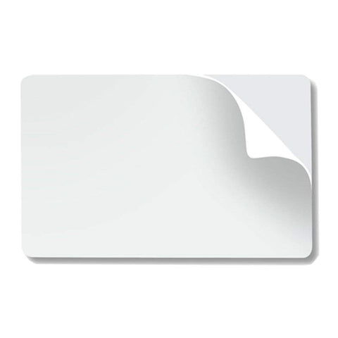 CR8010 Blank Adhesive Backed PVC Cards