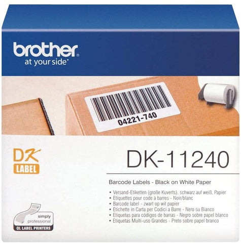 Brother DK-11240 51mm x 102mm Die-Cut Large Shipping White Paper Label Roll (Black On White)