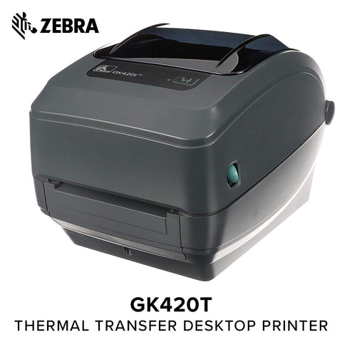 "Zebra GK420t 4"" Thermal Transfer Desktop Label Printer"