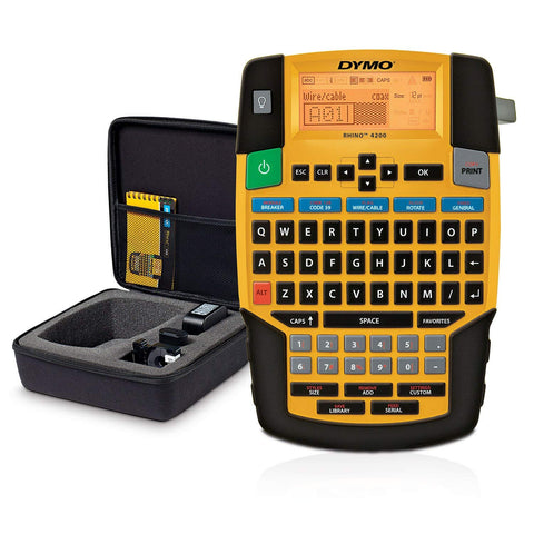 DYMO Industrial RHINO 4200 Label Maker and Kit Case