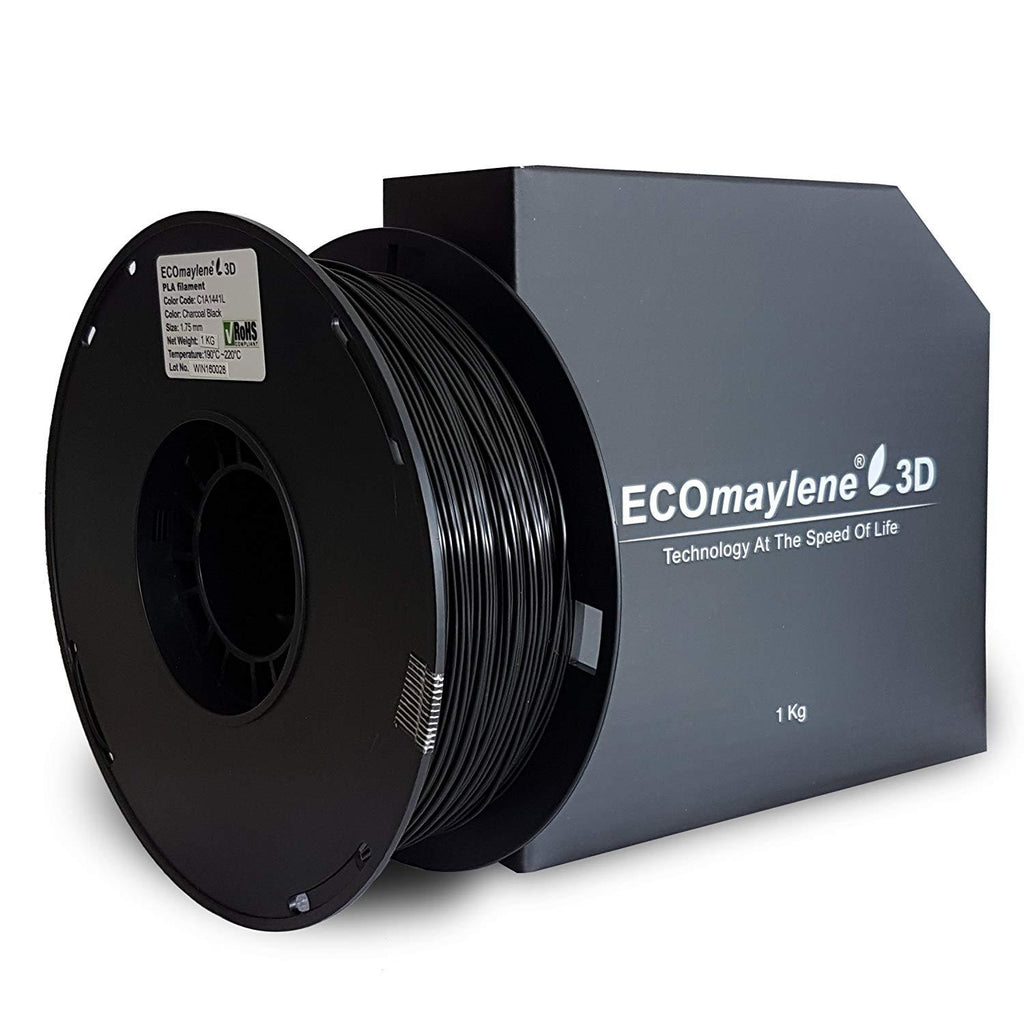 ECOmaylene3D PLA 1.75MM Charcoal Black 1KG 3D Printer Filament
