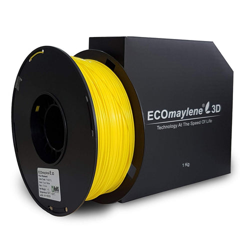 ECOmaylene3D PLA 1.75MM Fuzzy Yellow 1KG 3D Printer Filament