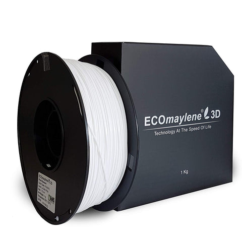 ECOmaylene3D PLA 1.75MM LaSalle White 1KG 3D Printer Filament