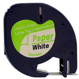 Compatible Dymo LetraTag Laminated Label Tape