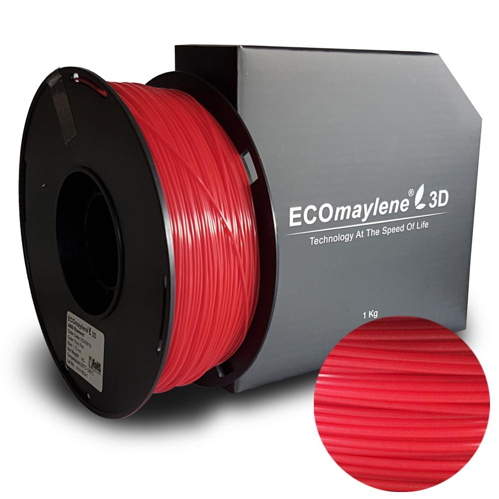 ECOmaylene3D ABS 1.75MM Rosy Red 1KG 3D Printer Filament
