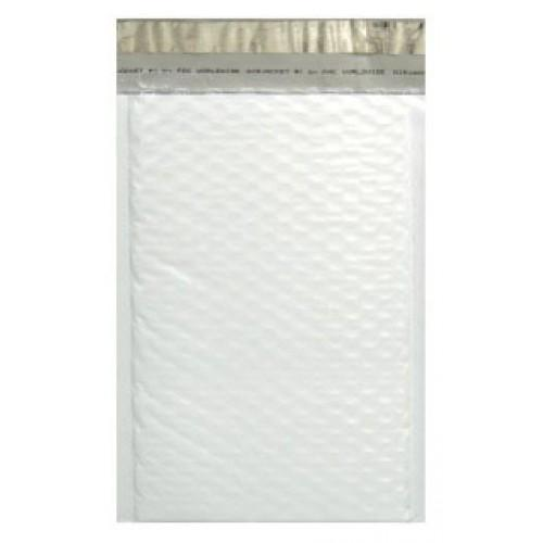 White Padded Bubble Poly Mailer - 180mm x 220mm + 40mm