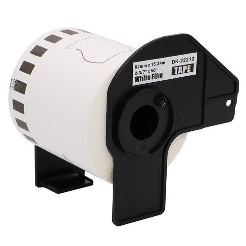 Compatible Brother DK-22212 62mm x 15.24m Continuous Length Film Tape (Black On White)