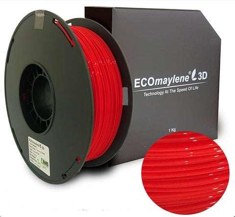 ECOmaylene3D PLA 1.75MM Scarlet Red 1KG 3D Printer Filament