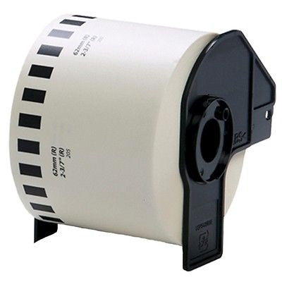 Compatible Brother DK-22205 62mm x 30.48m Continuous Length Paper Roll (Black On White)