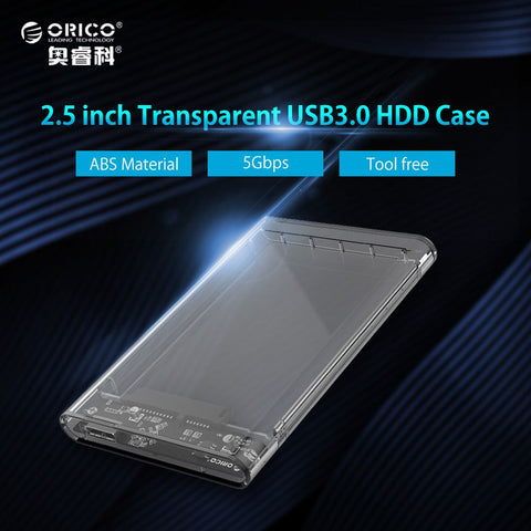 ORICO 2.5 inch Transparent Hard Drive Enclosure