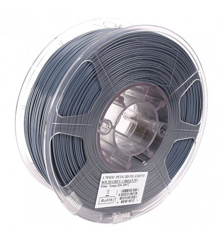 eSUN 3D PETG 1.75MM Solid Grey 1KG 3D Printer Filament