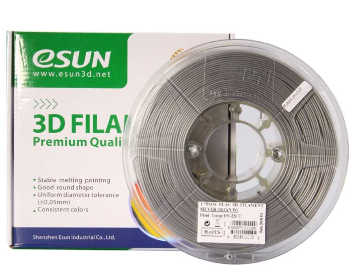 eSUN 3D PLA+ PLUS 1.75MM Grey 1KG 3D Printer Filament