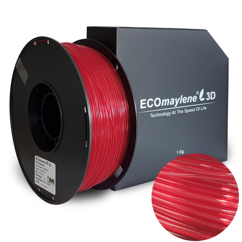 ECOmaylene3D PLA 1.75MM Ferrari Red 1KG 3D Printer Filament