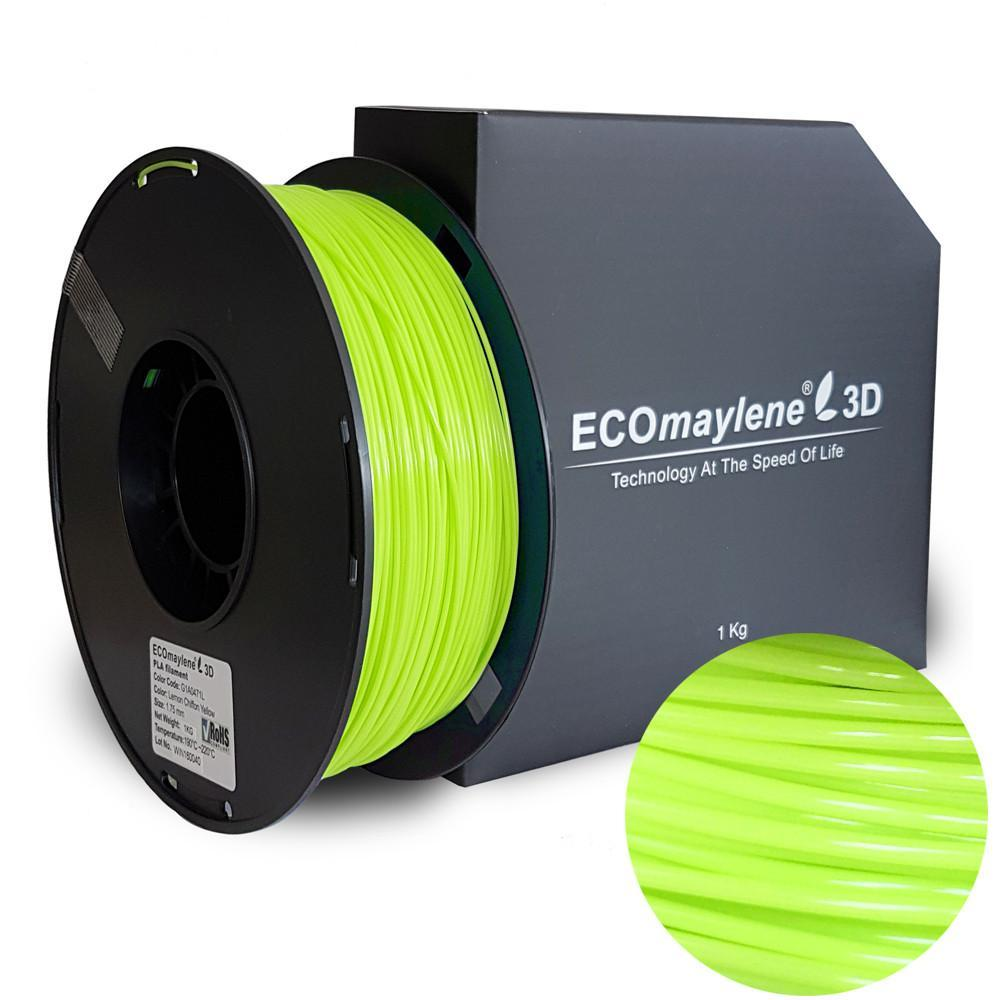 ECOmaylene3D PLA 1.75MM Lemon Chiffon Yellow 1KG 3D Printer Filament