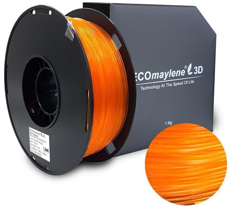 ECOmaylene3D PLA 1.75MM Amber Orange 1KG 3D Printer Filament