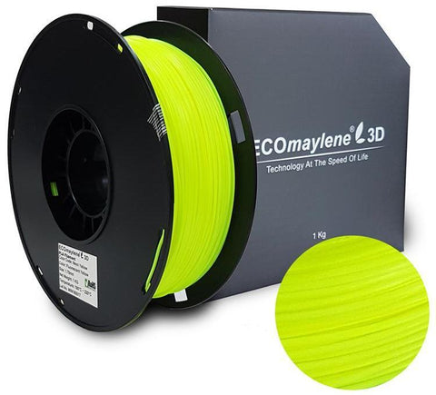ECOmaylene3D PLA 1.75MM Fluorescent Yellow 1KG 3D Printer Filament