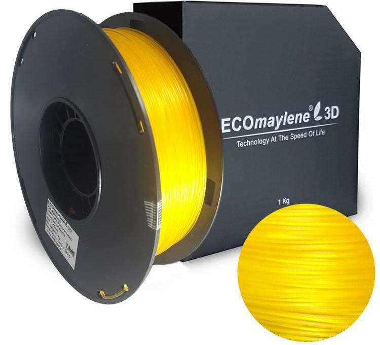 ECOmaylene3D PLA 1.75MM Garnet Yellow 1KG 3D Printer Filament