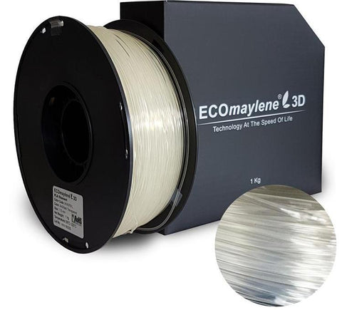 ECOmaylene3D PLA 1.75MM Anti Flash Transparent 1KG 3D Printer Filament