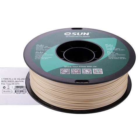 eSUN 3D PLA+ PLUS 1.75MM Bone White 1KG 3D Printer Filament
