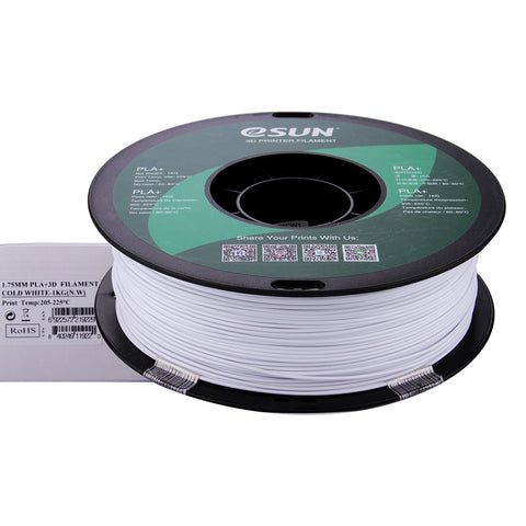 eSUN 3D PLA+ PLUS 1.75MM Cold White 1KG 3D Printer Filament