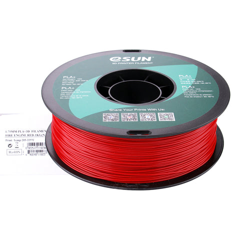 eSUN 3D PLA+ PLUS 1.75MM Fire Engine Red 1KG 3D Printer Filament