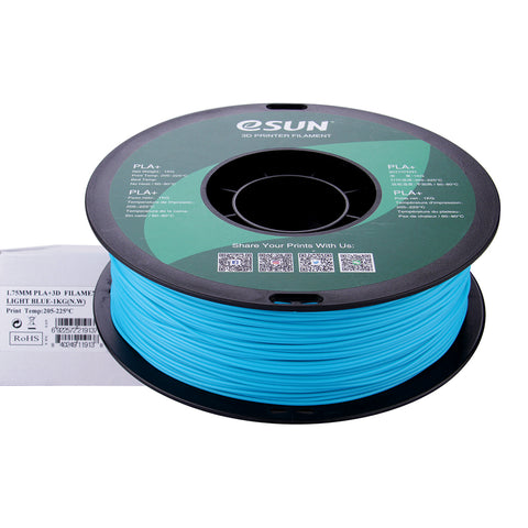 eSUN 3D PLA+ PLUS 1.75MM Light Blue 1KG 3D Printer Filament
