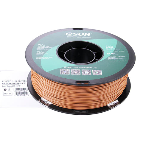eSUN 3D PLA+ PLUS 1.75MM Light Brown 1KG 3D Printer Filament
