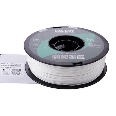 eSUN 3D PLA+ PLUS 1.75MM Luminous Green 1KG 3D Printer Filament