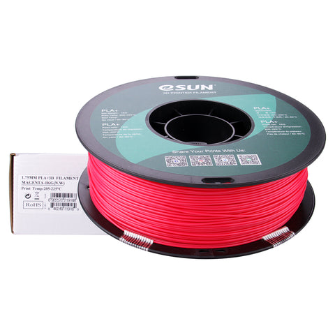 eSUN 3D PLA+ PLUS 1.75MM Magenta 1KG 3D Printer Filament