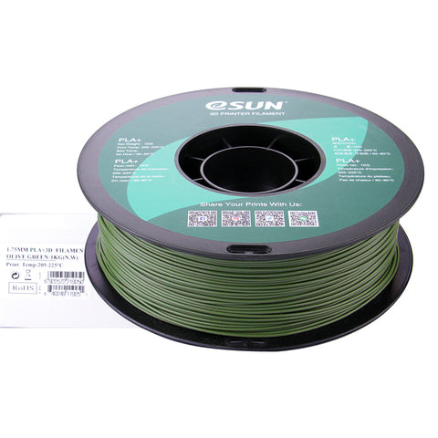 eSUN 3D PLA+ PLUS 1.75MM Olive Green 1KG 3D Printer Filament