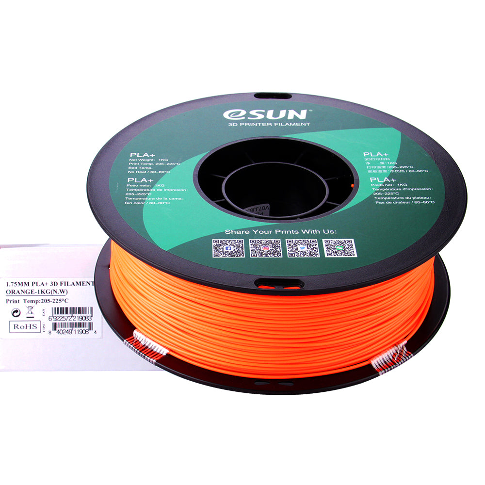 eSUN 3D PLA+ PLUS 1.75MM Orange 1KG 3D Printer Filament