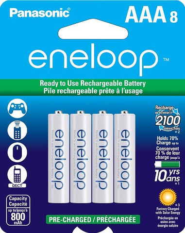 Panasonic Eneloop AAA 800mAh Rechargeable Batteries
