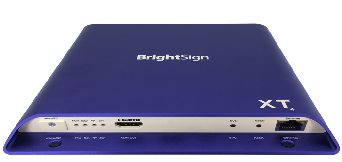 BrightSign XT244 4K Standard I/O HTML5 Media Player